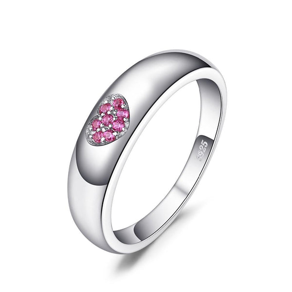 0.04ct Created Ruby Ring on Sterling Silver 1196