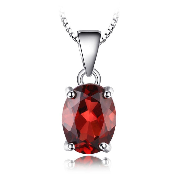 2.5ct Natural Red Garnet Pendant on Sterling Silver 1248