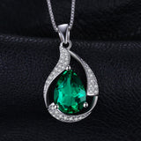 2.5ct Created Emerald Pendant on Sterling Silver 1220