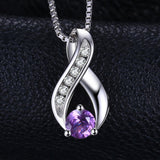 0.3ct Amethys Anniversary Pendant with Sterling Silver Jewelry 1210