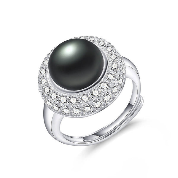 Luxury Pearl Ring on Sterling Silver 1084