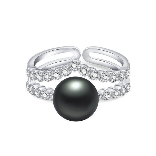 Sterling silver and Natural Pearl Ring 1111