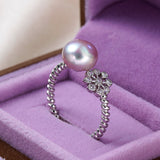 Beautiful Flower Solid Sterling Silver Ring 1035
