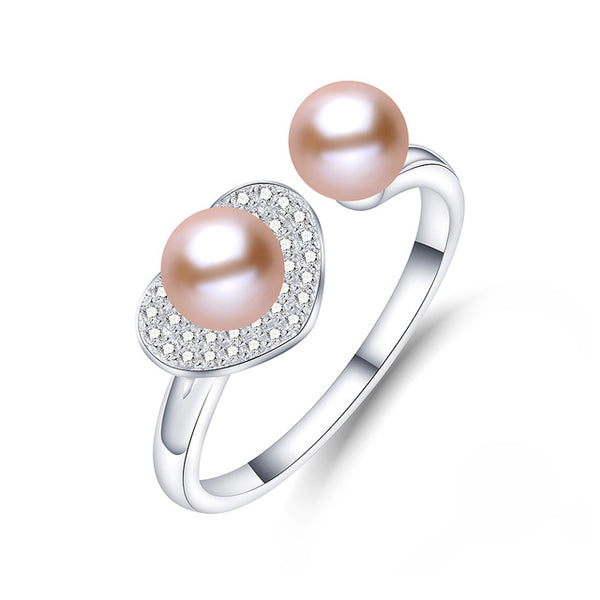 Elegant Round Natural Freshwater Pearl on Sterling Silver 1069
