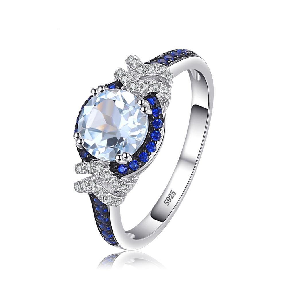 Sapphire Stone Ring on Sterling Silver 1064