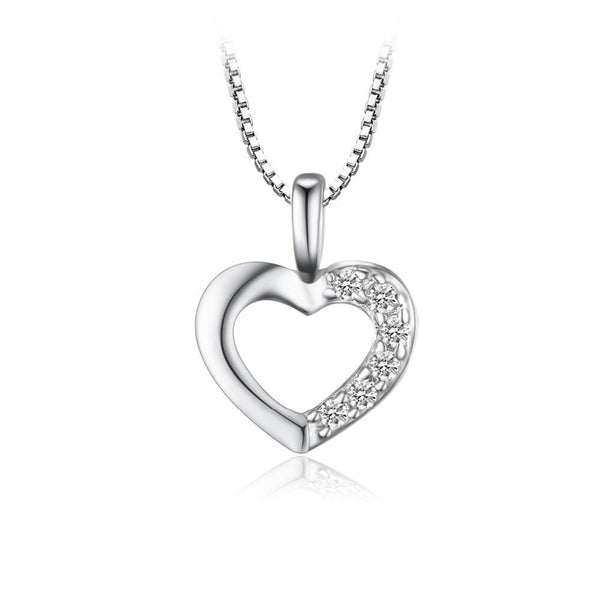 Sterling Silver 1.3ct  Heart Pendant 1401