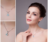 2.2ct Natural Sky Blue Topaz on Sterling Silver Pendants 1208