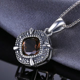 1.47 ct Natural Smoky Quartz Pendant with Sterling Silver 1262