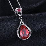4ct Created Red Ruby Pendant on Sterling Silver 1251