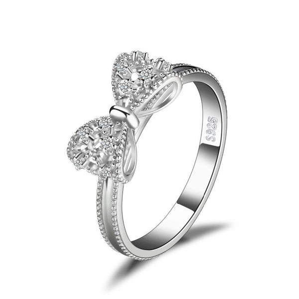 Intricate Sterling Silver Bow Ring 1399