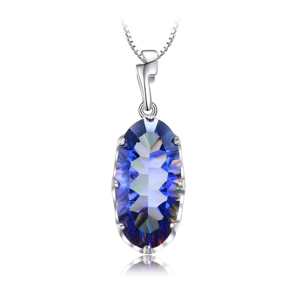 11.8ct Genuine Mystical Blue Topaz Pendant on Sterling Silver 1217