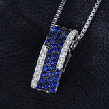 0.42ct Created Blue Spinel l Pendant on Sterling Silver 1211