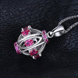 0.77ct Created Ruby Pendant on Sterling Silver 1224