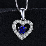0.6ct Created Blue Spinel Pendant on Sterling Silver 1243