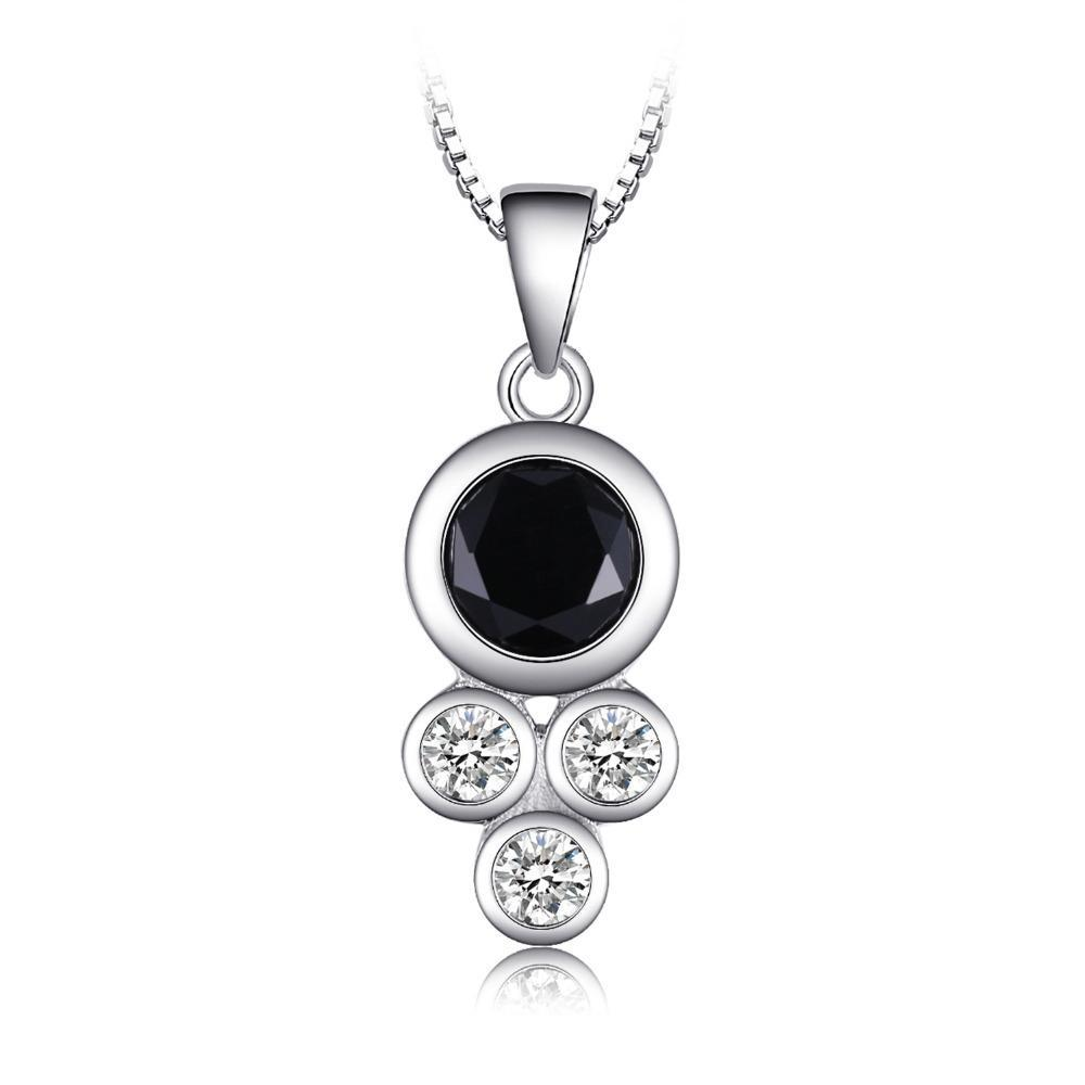 1.9ct Green Created Black Spinel Pendant on Sterling Silver with chain 1259