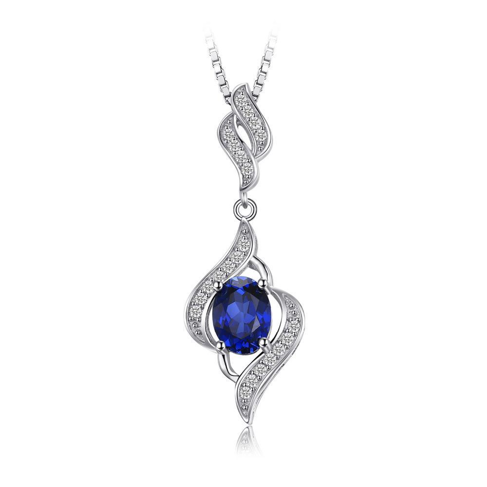 1.95 ct Blue Sapphire Pendant on Sterling Silver 1511