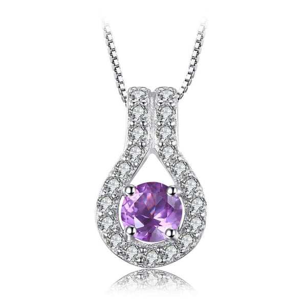 0.4ct Genuine Amethyst Pendant Necklace on Sterling Silver with 45cm Chain 1254