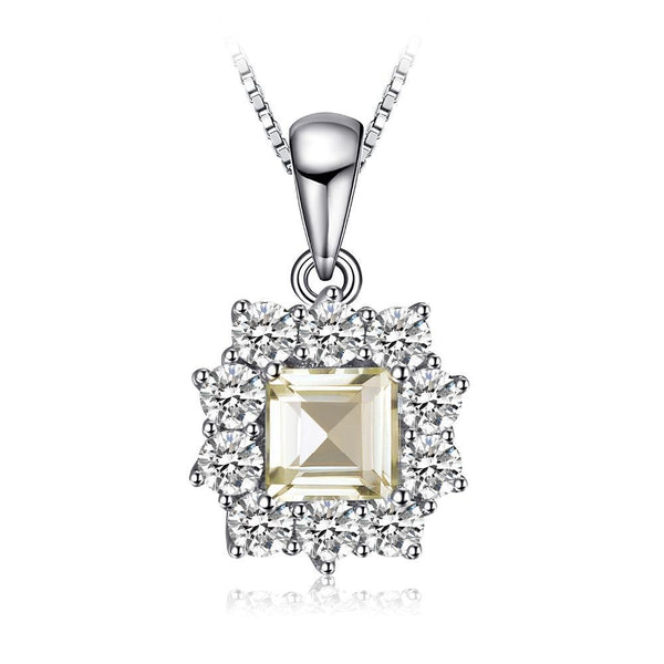 0.65ct Lemon Quartz Pendant on Sterling Silver with chain 1238