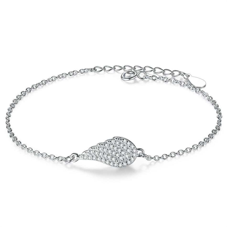 Sterling Silver Pear Cut Bracelet with Cubic Zirconia 1300