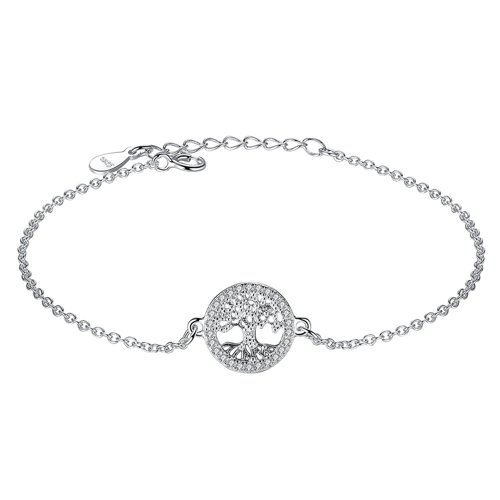 Sterling Silver Chain Bracelet Tree of Life 1283