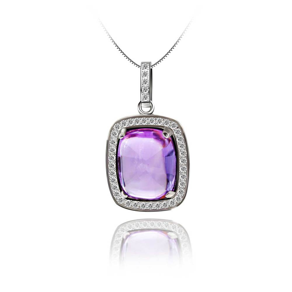 4.69ct Genuine Amethyst Gemstone Pendant 1483