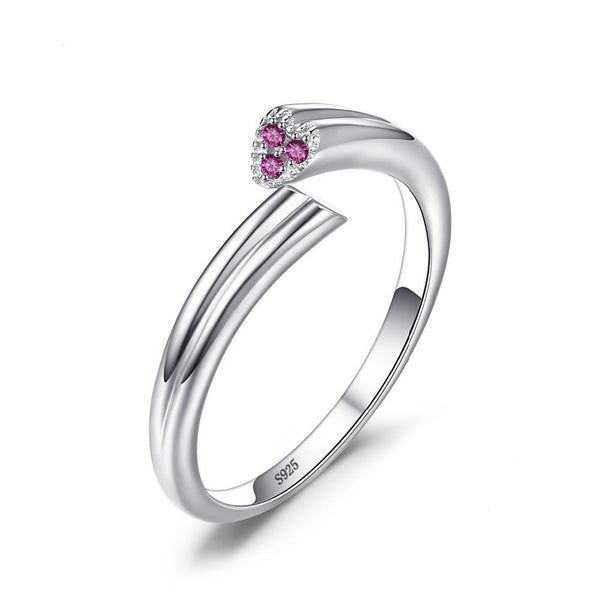 Sterling Silver 2 Heart Sapphire Wrap Ring 1414