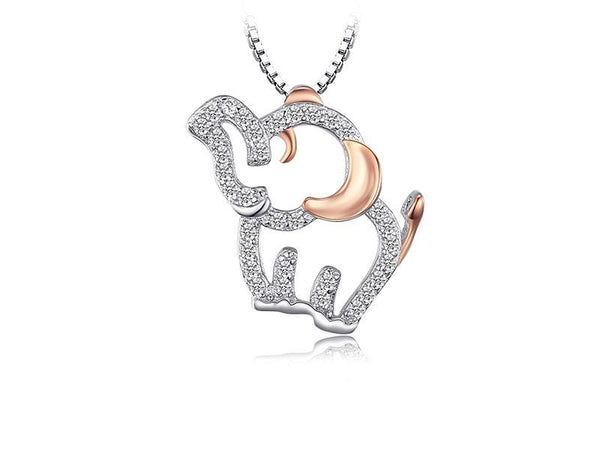 Sterling Silver Cubic Zirconia Elephant Pendant 1331