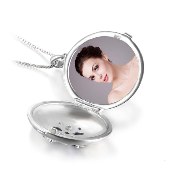 Sterling Silver Pocket Pendant Necklace with Photo holder 1400