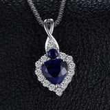 Classic Sterling Silver Heart-Shaped 0.9ct Sapphire Pendant