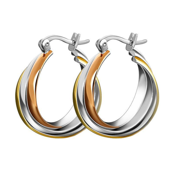 Titanium Steel Twisted Hoop Earrings 1517