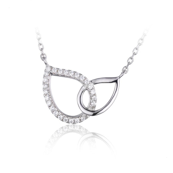 Sterling Silver Teardrop Collar Necklace 1113