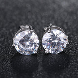 Dazzling Rhinestone Crystal Sterling Silver Earrings 1379