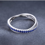 Round 0.3Ct Blue Spinel Sterling Silver Ring 1422