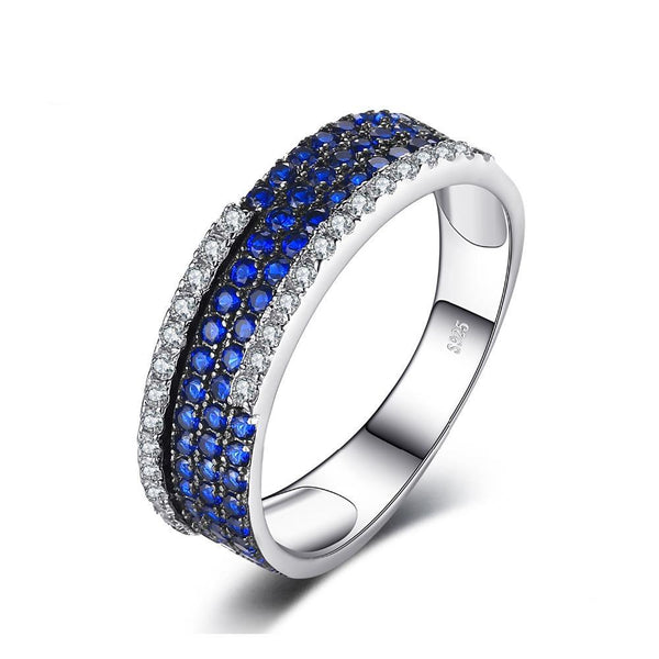 0.81ct Cluster Blue Spinel Ring 1433