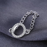 925 Sterling Silver Chain Ring 1406