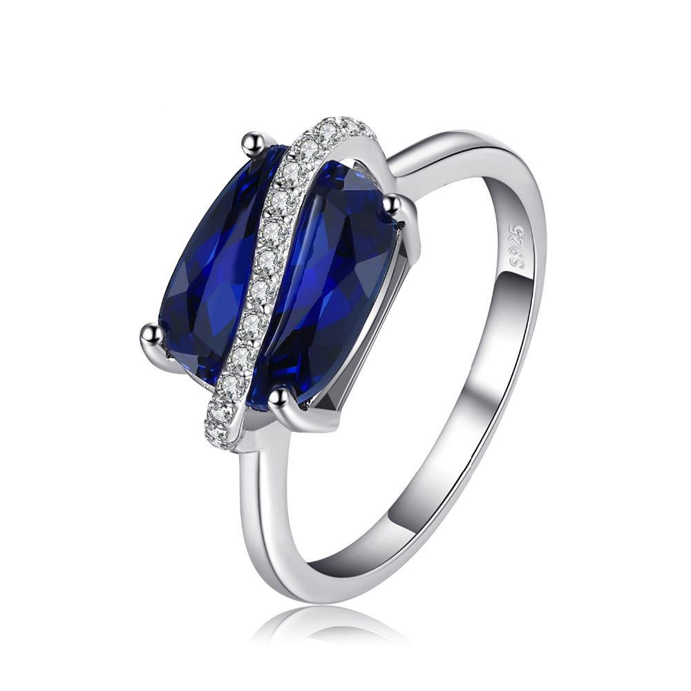 4.26ct Sapphire Sterling Silver Ring 1419