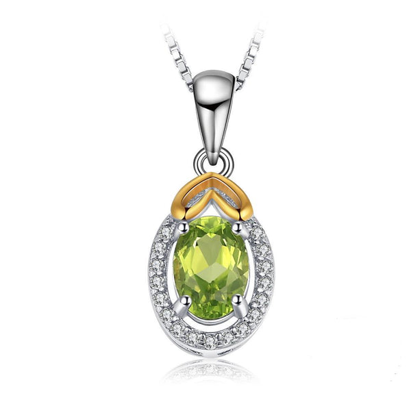 0.97ct Geometric Peridot Pendant - Without Chain 1540