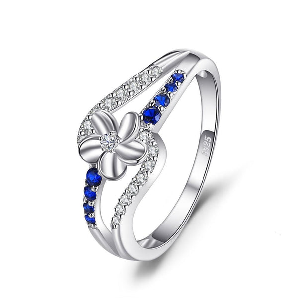 0.3ct Sapphire Flower Ring 1431