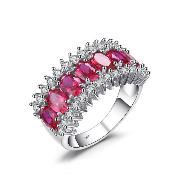5.7ct Pigeon Blood Ruby Sterling Silver Ring 1420