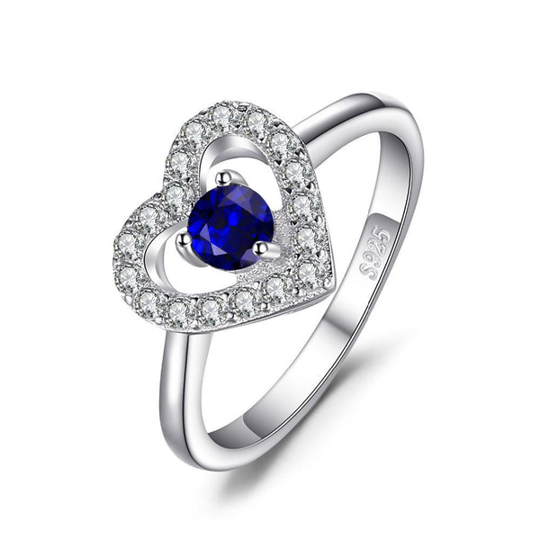 Heart 0.6ct Blue Spinel & Sterling Silver Ring
