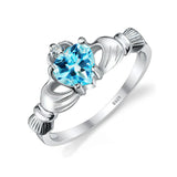 Friendship Heart Blue Topaz Ring 1438