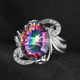 9.5ct Rainbow Fire Mystic Topaz Ring 1427