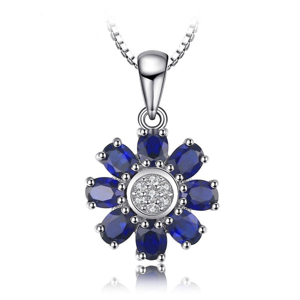 4.6ct Sapphire Flower Wraparound Pendant - Without Chain 1490