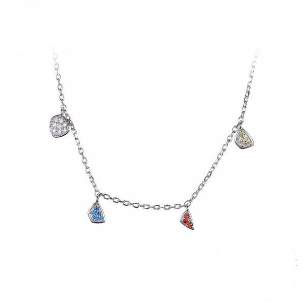 Multicolor Charm Chain Necklace 1557