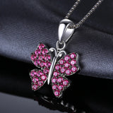 Butterfly 0.7ct Ruby Pendant - Without Chain 1458