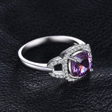 Vintage 2.5ct Square Alexandrite Sapphire Ring 1442
