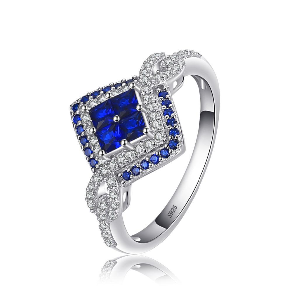 Sparkling Square 0.62ct Blue Spinel Ring 1440