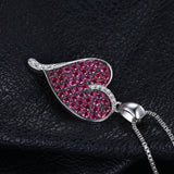 0.88ct Ruby Heart Pendant - Without Chain 1453