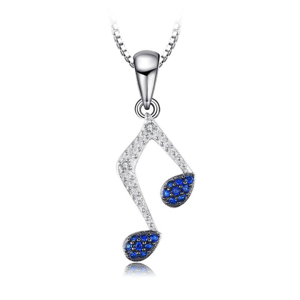 0.1ct Blue Spinel Music Note Pendant 1475