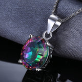 3.5ct Rainbow Fire Mystic Topaz Pendant Necklace 1495